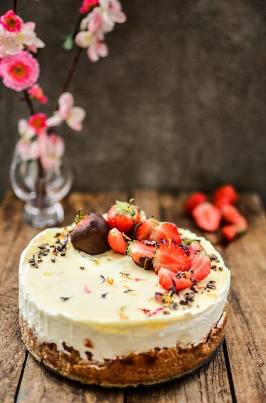 Sahne-Erdbeer-Cheesecake